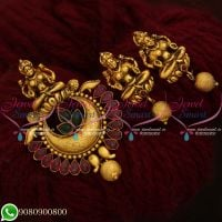 Pendant Set Temple Jewellery Gold Inspired Artificial Designs Online