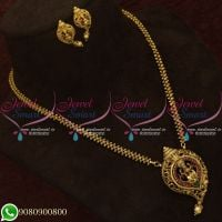Temple Jewellery Chain Pendant Set New Design Traditional Online