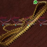 Temple Jewellery Hip Chain Coin Oddiyanam Antique Gold Plated