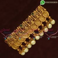 Temple Jewellery Hair Clips Lakshmi God Coin Engraved Designs Online