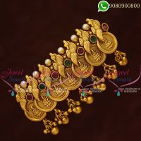Temple Jewellery Hair Clips Laxmi God Coin Engraved Designs Online