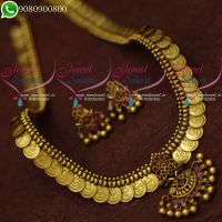 Temple Jewellery Kasumala Long Necklace Traditional Design Online Shop