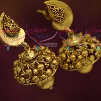 latest-light-weight-antique-gold-plated-mango-design-jhumka-earrings-buy-online