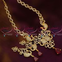 peacock-design-diamond-finish-stylish-trendy-gold-plated-cz-necklace-design-jewellery