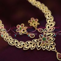 light-gold-tone-cz-ruby-emerald-floral-design-party-wear-necklace-set-jewellery-online