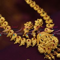 one-gram-gold-traditional-south-temple-laxmi-god-jewellery-handmade-necklace-set-online