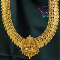 Temple_Jewellery_Laxmi_Pendant_Mango_Design_Long_Neckace_Traditional_Haaram_Earrings