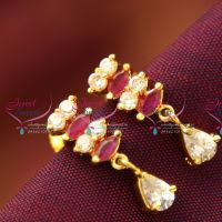 Gold_Plated_Screw_Lock_Ruby_Emerald_Tops_Earrings_Indian_Traditional_Immitation_Jewellery_Online_Shopping
