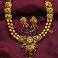 Temple_Jewelry_Indian_Traditional_Long_Necklace_Haaram_Antique_Gold_Plated_Online_Shopping