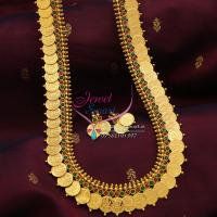 Indian_Traditional_Long_Necklace_Haaram_Laxmi_Coin_Multi_Colour_Online_Shopping