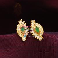 Gold_Plated_Screw_Type_Lock_Tops_Earrings_Indian_Traditional_Imitation_Jewelry