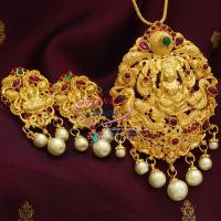 Indian_Traditional_Fashion_Jewellery_Nagas_Temple_Imitation_Pendant_Earrings_Gold_Designs_Online_Shopping