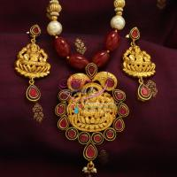Beaded-Temple-Red-Pearl-Gold-Beads-Nakshi-Temple-Pendant