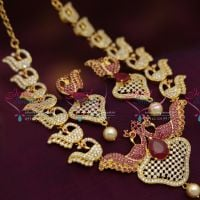 Temple-Necklace-Gold-Plated-Fancy-Design-Necklace-Earrings-Jhumka-Tikka