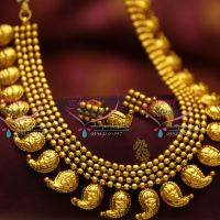 precious-temple-red-green-multi-line-one-gram-gold-plated-beads-long-necklace-jewellery