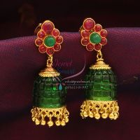 Exclusive_Gold_Design_Temple_Jewelry_Online_Temple_Jhumka_Red_Green