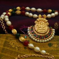 temple-laxmi-gold-design-pendant-ruby-emerald-offer-price-online-buy