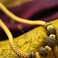 beaded-jewelry-gold-meena-color-balls-handmade-fancy-necklace-offer-price-online