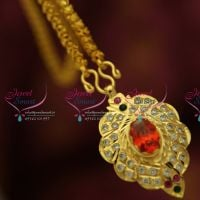 elephant-design-gold-plated-ad-stones-small-ruby-pendant-delicate-chain