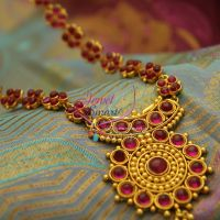 Temple-kempu-indian-tradtional-red-green-fashion-jewelry-haram-online