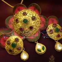 superb-gold-jewellery-finish-one-gram-delicate-pendant-set-buy-online-fashion-jewellery