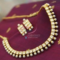 ad-white-american-diamond-pearl-drops-short-fancy-necklace-online-offer-price