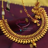 Temple_Kempu_Fashion_Jewellery_Mango_Design_Traditional_necklace