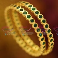 traditional-gold-design-thick-metal-finish-temple-kempu-spinel-green-bangles