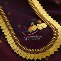 temple-coin-necklace-haram-gold-plated-maroon-indian-traditional-jewellery