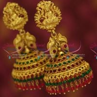 broad-grand-temple-kemp-ruby-emerald-multi-layer-danglers-dulhan-jhumka-buy-online