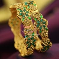 green-polki-meenakari-brass-metal-handwork-antique-gold-plated-bangles