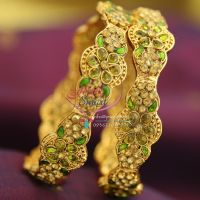 parrot-green-polki-meenakari-brass-metal-handwork-antique-gold-plated-bangles