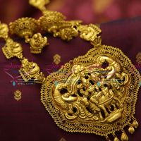 one-gram-gold-plated-jewellery-south-indian-traditional-mango-haram-temple-pendant-online