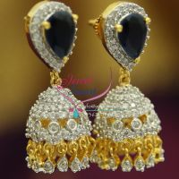 jhumka-american-diamond-white-sapphire-gold-design-imitation-jewelry-buy-online