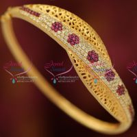 kempu-meenakari-peacock-kada-screw-open-type-jewellery-buy-online
