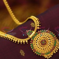 gold-plated-beaded-temple-kempu-jewellery-screw-back-earrings-south-traditional-buy-online