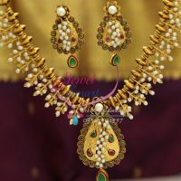 antique-exclusive-gold-design-handmade-real-pearls-ruby-beaded-jewellery-necklace-online