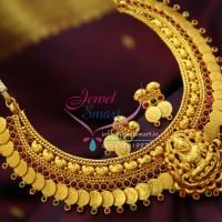 yellow-gold-plated-temple-coin-laxmi-god-traditional-long-necklace-online
