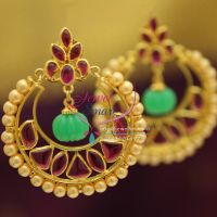 templ-kempu-ruby-green-drops-round-pearl-broad-earrings-online-jewellery