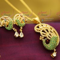 meenakari-cz-white-green-different-colour-sparkling-premium-diamond-finish-pendant-sets