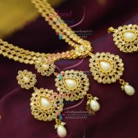 bollywood-model-jewellery-3-step-polki-stones-fancy-design-necklace-gold-plated-online-shopping