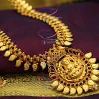 reddish-yellow-gold-south-indian-traditional-trendy-temple-kempu-jewellery-haram-long-necklace-online