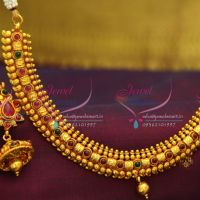 e87d27c0a41 NL2779 Red Gold Plated Temple Kemp Mango Beads Design Jewellery Traditional  Necklace Set