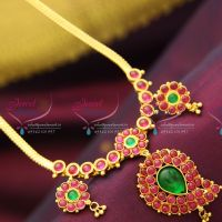 temple-kempu-mango-design-traditional-south-indian-jewellery-earrings-online-offer