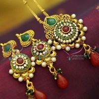 kundan-finish-antique-gold-plated-pendant-set-ball-chain-offer-price-collections-online