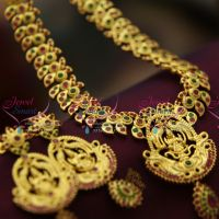 south-indian-traditional-necklace-temple-laxmi-pendant-ethnic-jewellery-gold-design-online