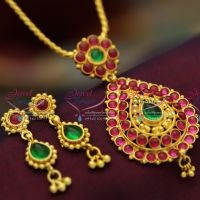 temple-kempu-stones-spinel-ruby-emerald-pendant-earrings-pearl-indian-traditional