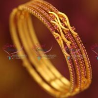 gold-plated-ruby-4-pieces-bangle-set-thin-matching-jewellery-set-online-excluslive-offer