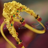 indian-traditional-kempu-vanki-aravanki-laxmi-god-stones-gold-design-south-jewellery-collections