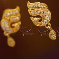 gold-plated-screwback-ruby-emerald-earrings-buy-online-south-indian-fashion-jewellery
